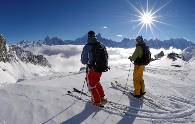 skiing Les carroz