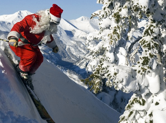 Farther Christmas Skiing