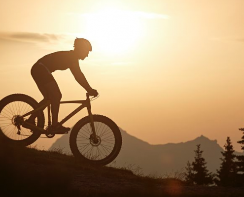 Mountain Biker Sunset / Mountains