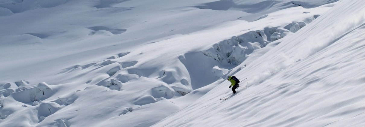 Skiing Vallee Blanche