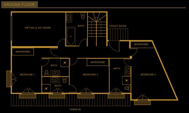Chalet les Bois Floor-plan - Ground Floor