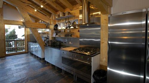 The Kitchen at Chalet Les Bois
