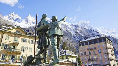 Chamonix Statues