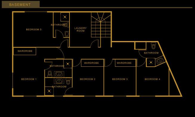Chalet les Bois Floor-plan - Basement