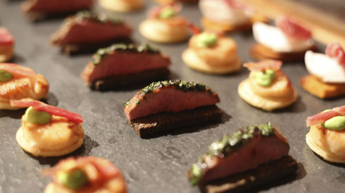 Mouth Watering Canapés