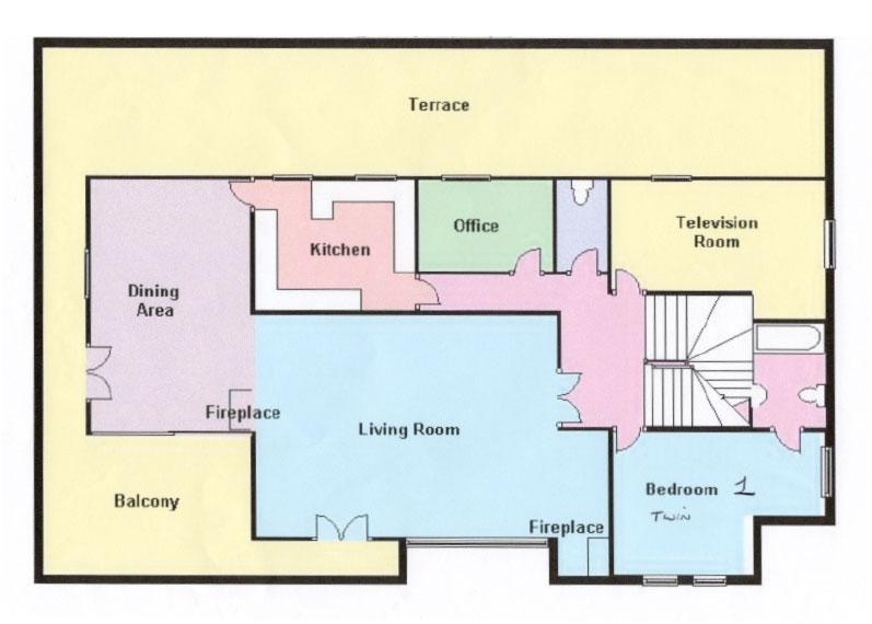 The Retreat Chalet Floor Plan First Floor