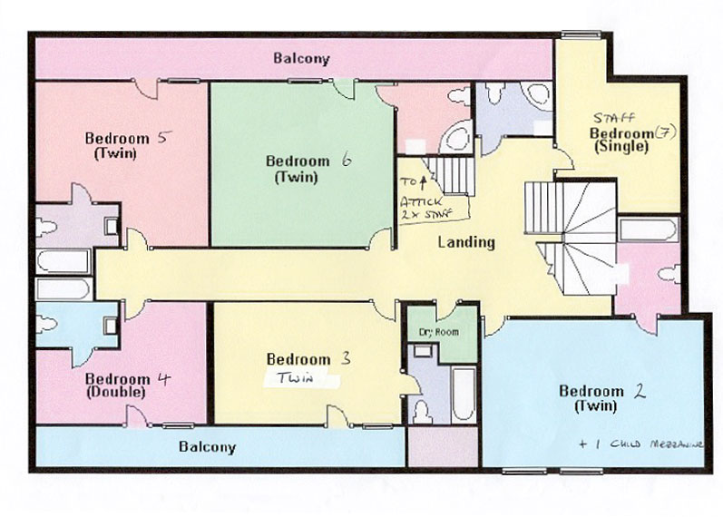 The Retreat Chalet Floor Plan Second Floor